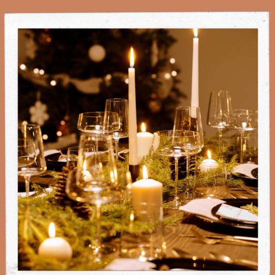 ¿Con velas o sin velas, Cómo prefieres la cena de Navidad?