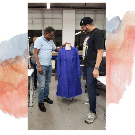 La historia del dominicano que participó en la confección del traje de Kamala Harris