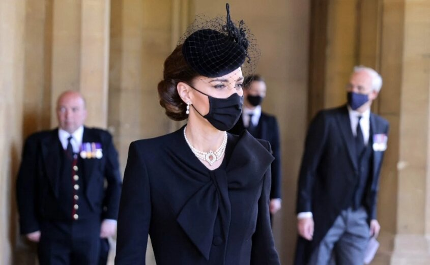Kate Middleton: Impecable para despedir al príncipe Felipe