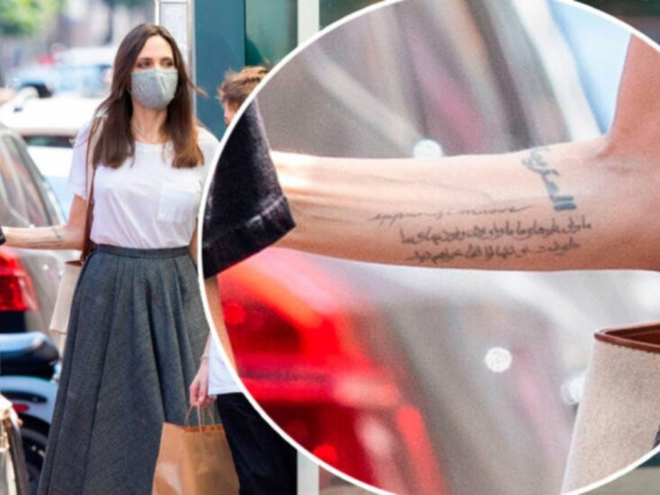 Angelina Jolie estrena tatuaje con un misterioso significado