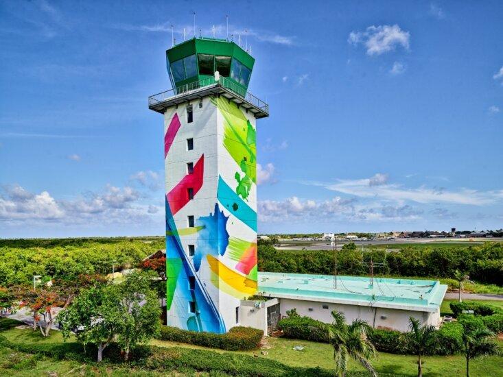 Torre de Control del Aeropuerto de Punta Cana es una obra de arte